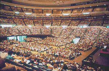 photo of full stadium arena